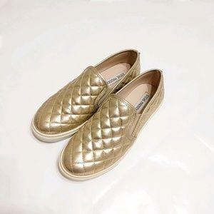 Steve Madden-Gold Eurros Quilted Slip-on/6.5/Used1